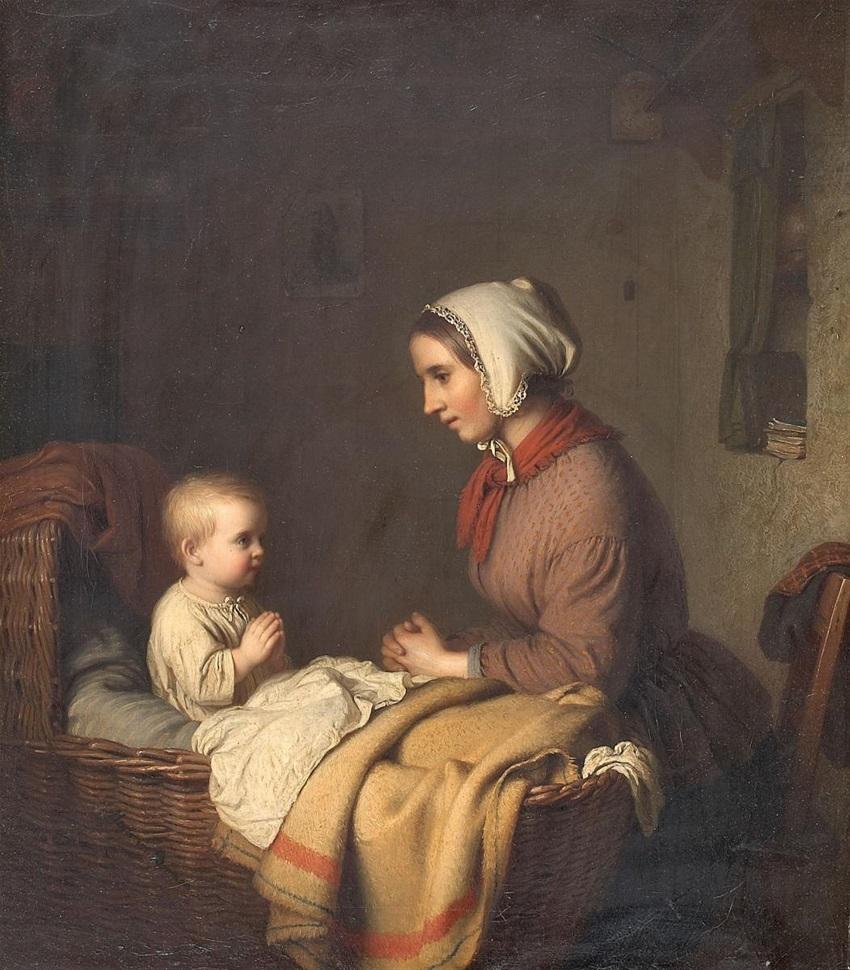 Lempertz-1017-99-Paintings-and-Drawings-15th--19th-Centuries-Johann-Georg-Meyer-von-Bremen-THE-EVENING-PRAYER.jpg
