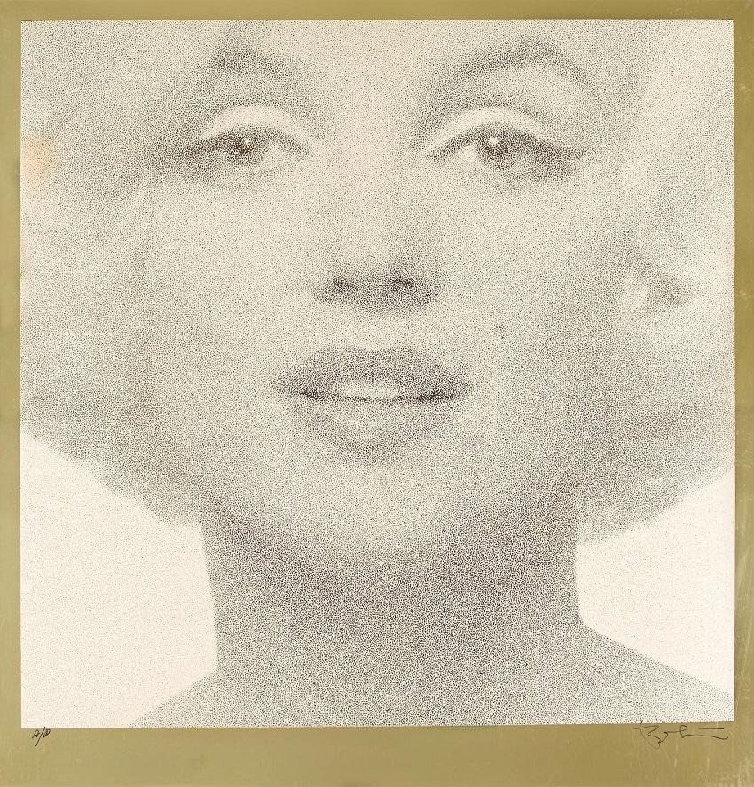 Head Shot (Crème on Gold) , 1962 Отпечаток на золотой фольге.Jpeg