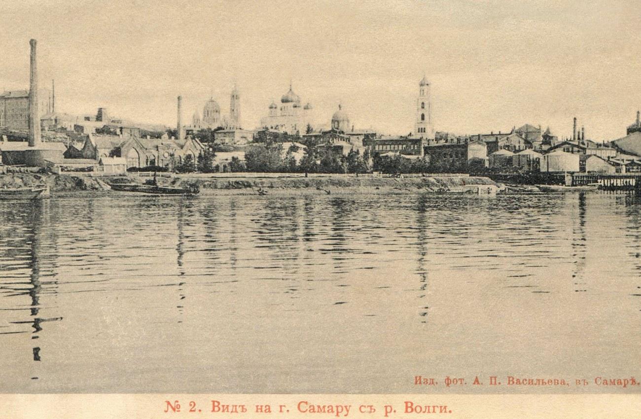 Вид на Самару с реки Волги