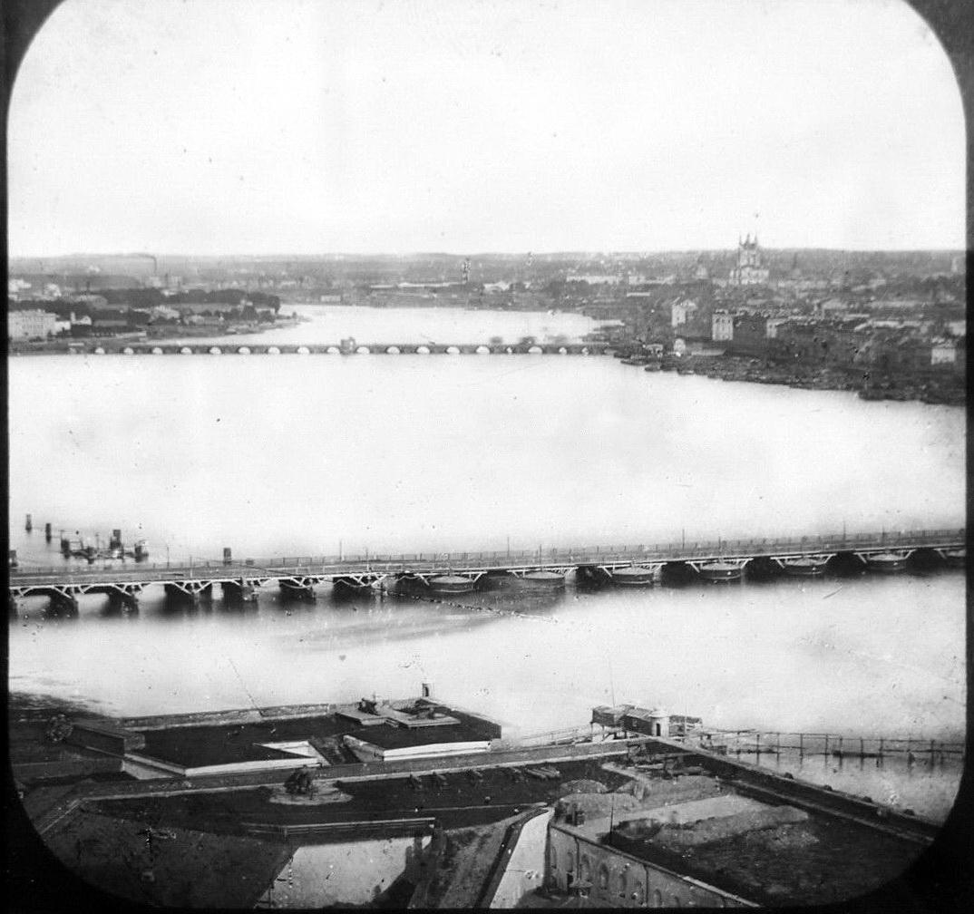 1854-1856. Вид на Неву с колокольни Петропавловского собора