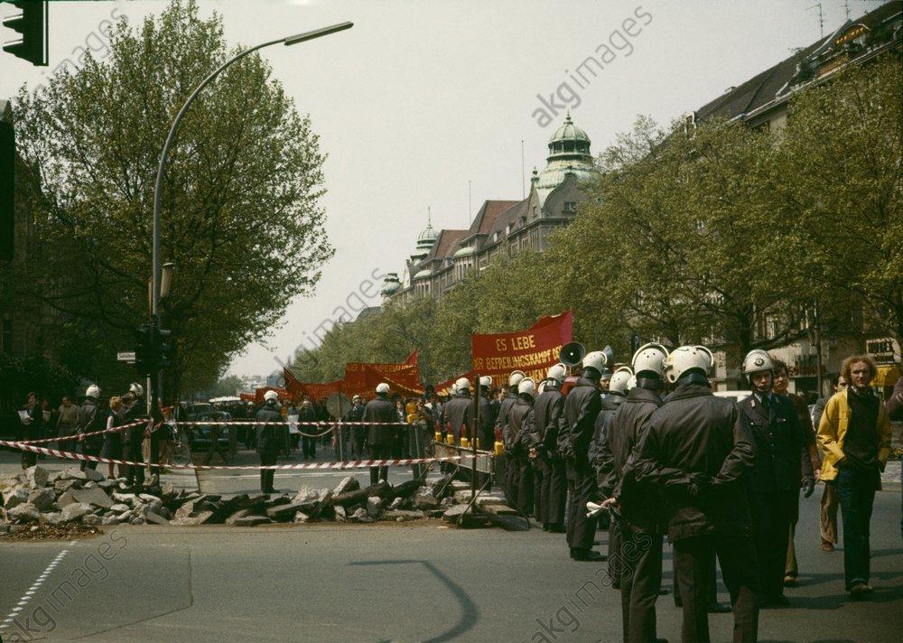 Demo auf dem Kudamm 1978 - -