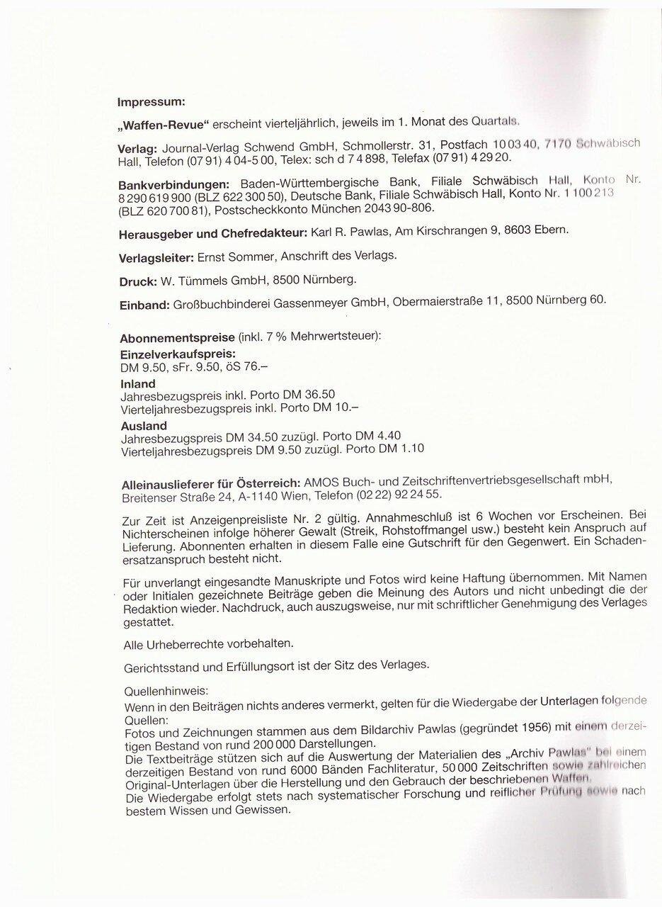 Waffen Revue Nr 81 Ii Quartal 1991 Sassik