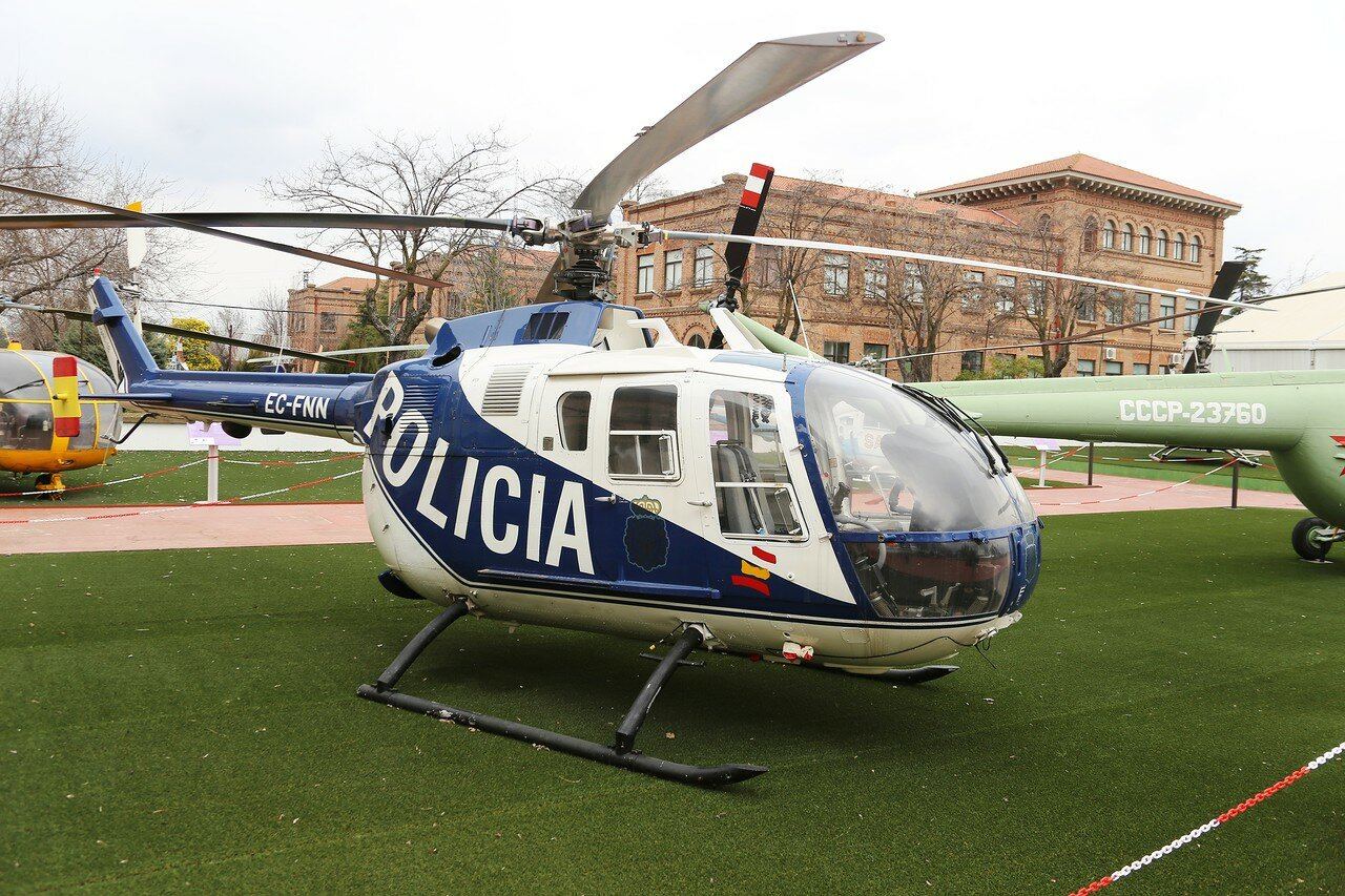 Messerschmitt-Bölkow-Blohm Bo-105CB, police helicopter (Museo del Aire, Madrid)