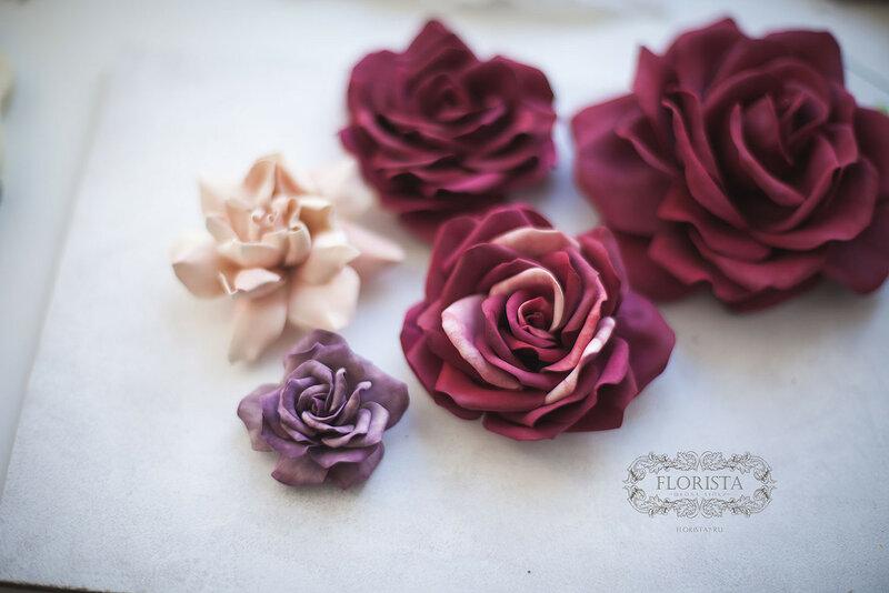 Цветы их полимерных глин.