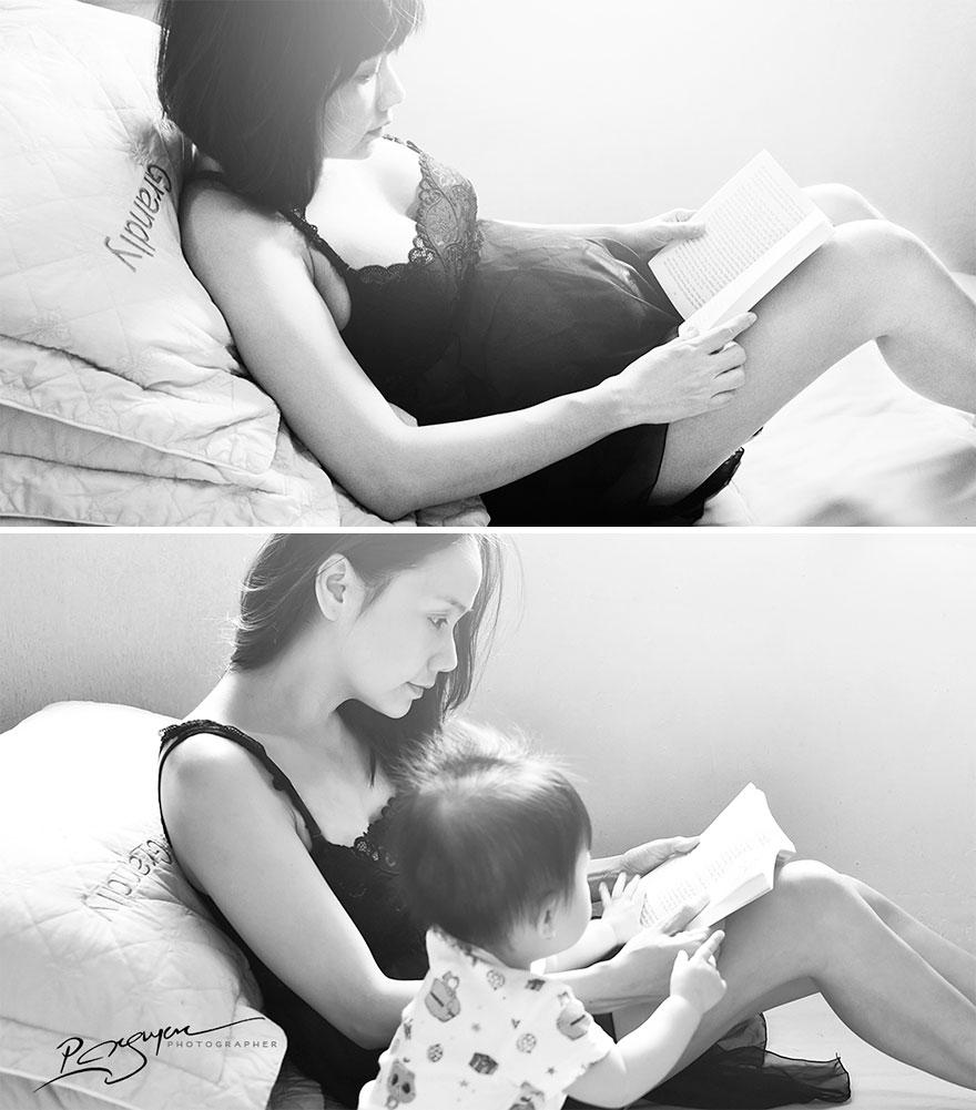 «Матери часто читают книги и слушают музыку вместе с еще не рожденными детьми. Это должно способство