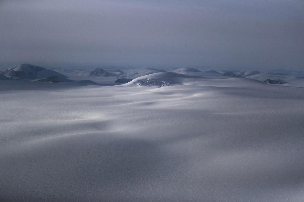15. Залив Баффина, 27 марта 2017. Гренландия — рядом на востоке. (Фото Mario Tama):