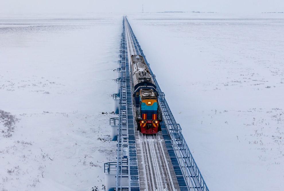 25. А это уже месторождение — станция Карская.