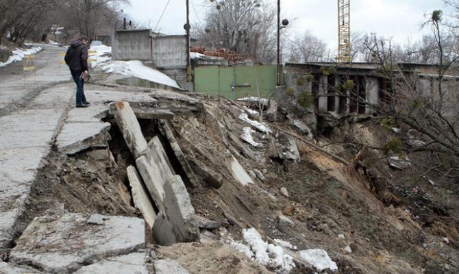 6-ти киевским районам угрожает подтопление— Резкое потепление