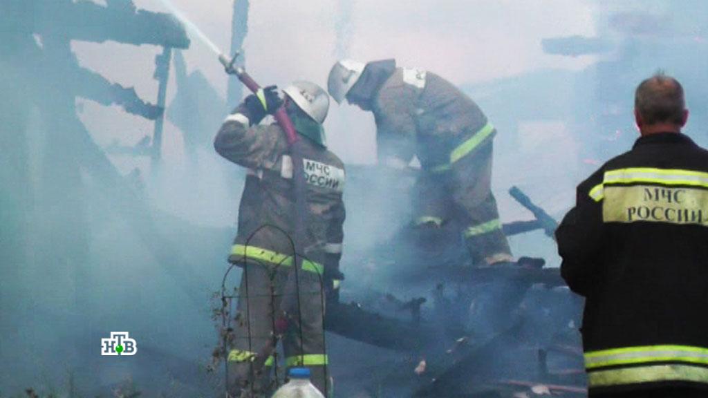 Семилетний ребенок имужчина погибли впожаре вМолчановском районе