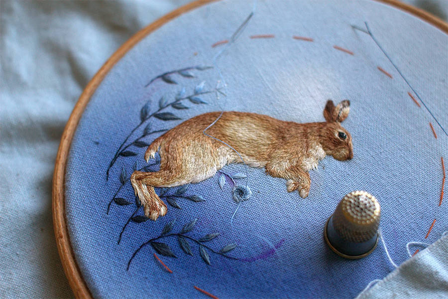 New Tiny Embroideries by Chloe Giordano