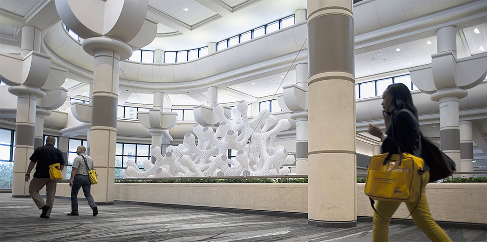 A Sprawling Coral-Like Structure Suspended Above an Orlando Convention Center by Marc Fornes