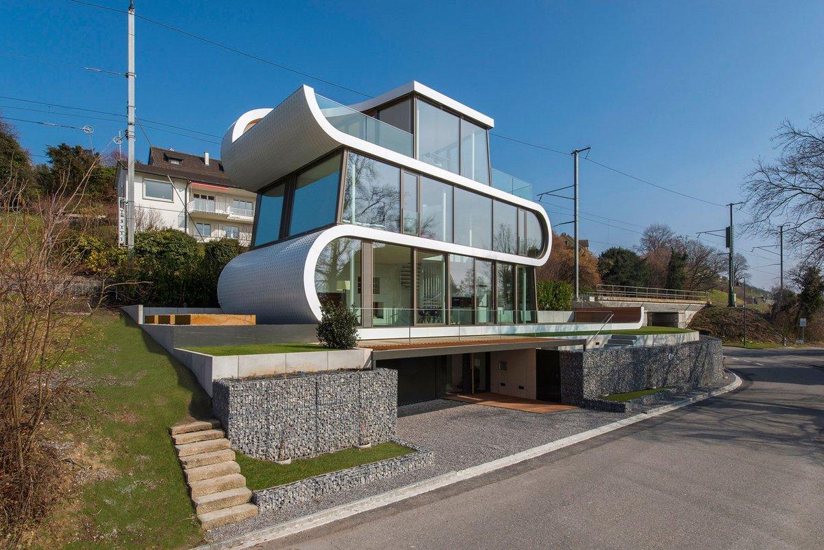Интересная архитектура частного дома