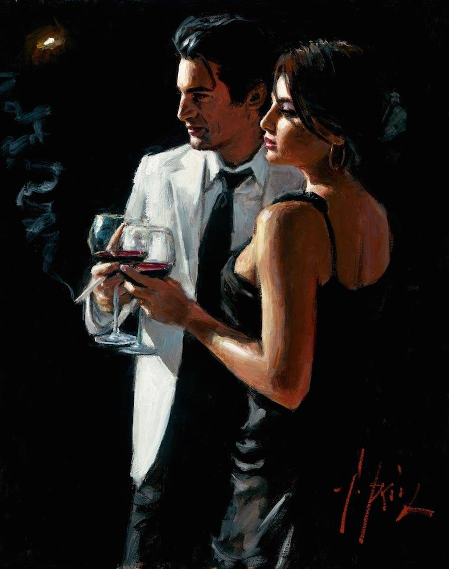 Romantic Encounters Paintings by Fabian Perez