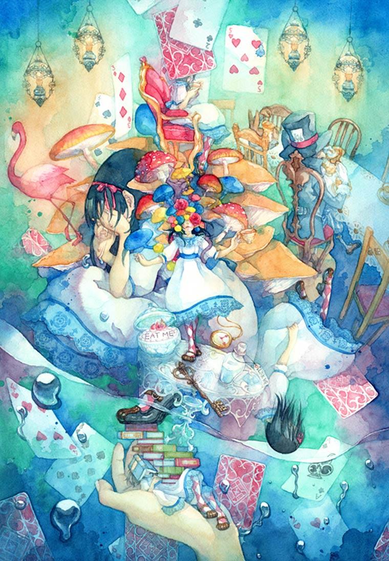 Taupe Syuka - Quand Alice au Pays des Merveilles rencontre la culture Japonaise