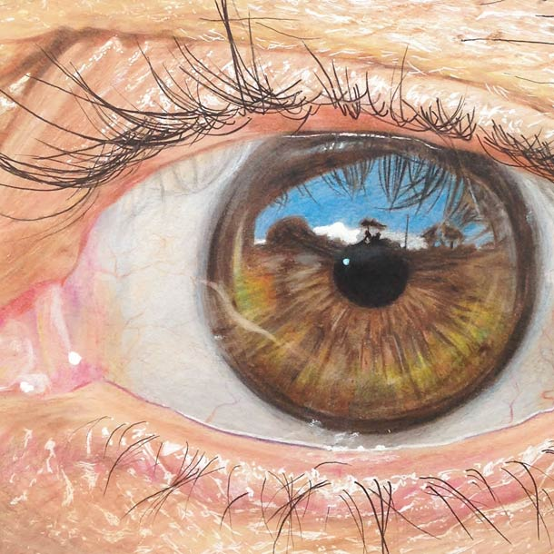 Les yeux hyperrealistes de l'artiste Redosking