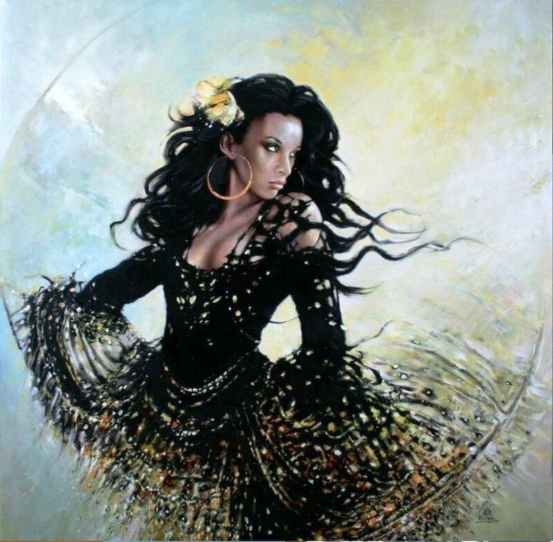 Польский художник Кароль Бак (Karol Bаk). Женский образ.jpg