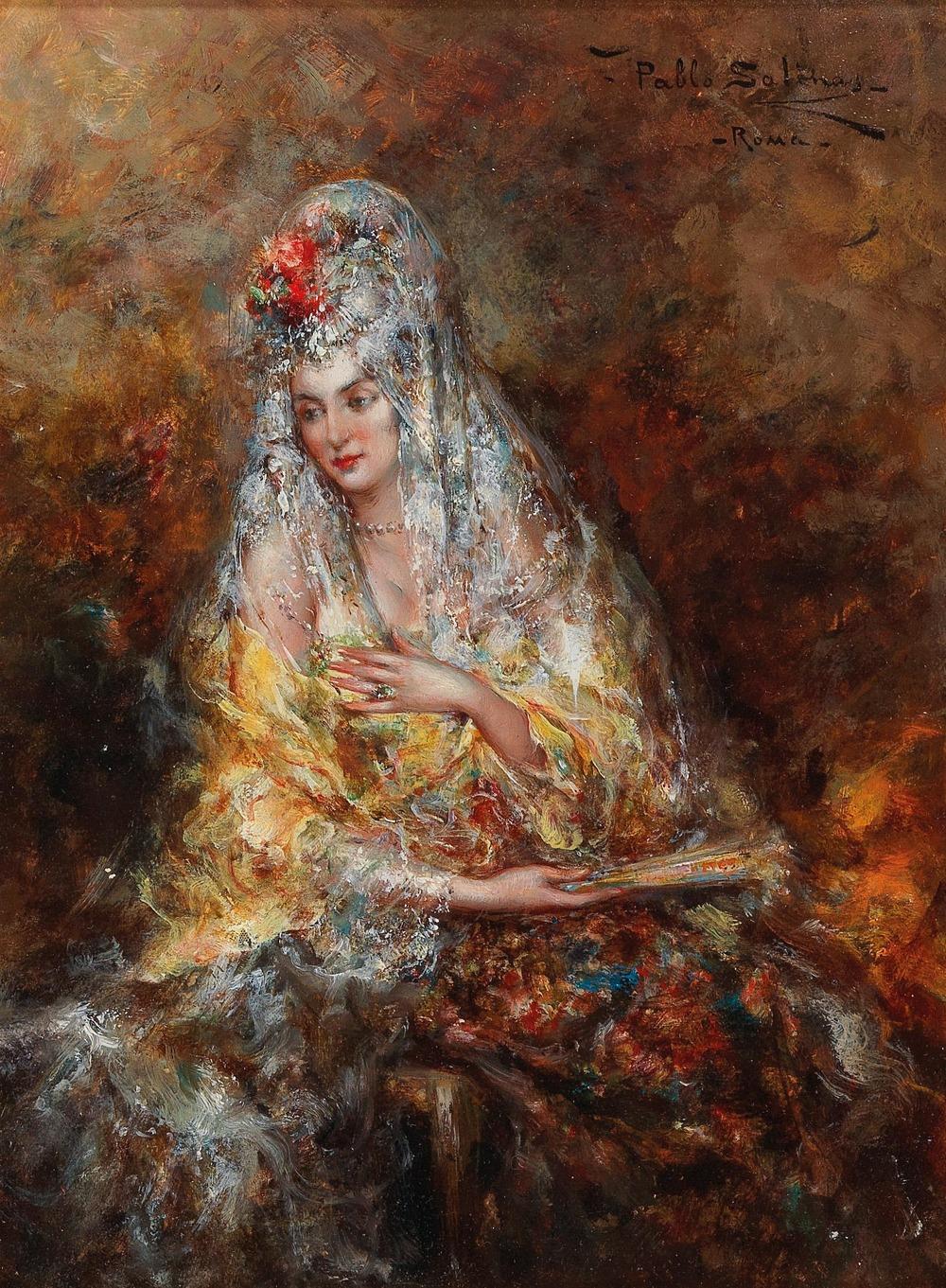 Pablo Salinas y Teruel *(Madrid 1871–1946 Rome) Spanish beauty