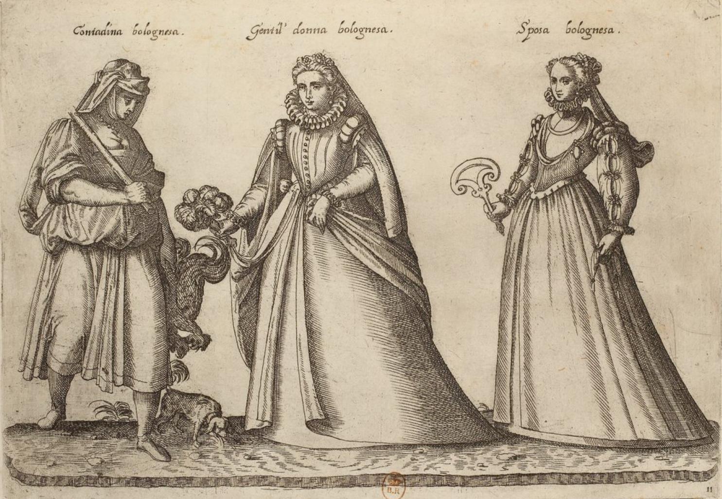 Итальянские костюмы XVI века на гравюрах Жан-Жак Буассара