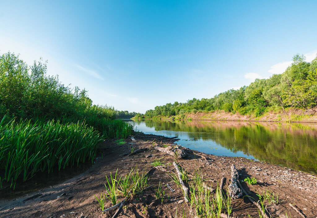 Река в районе сел Кинель, Бобровка, Самара