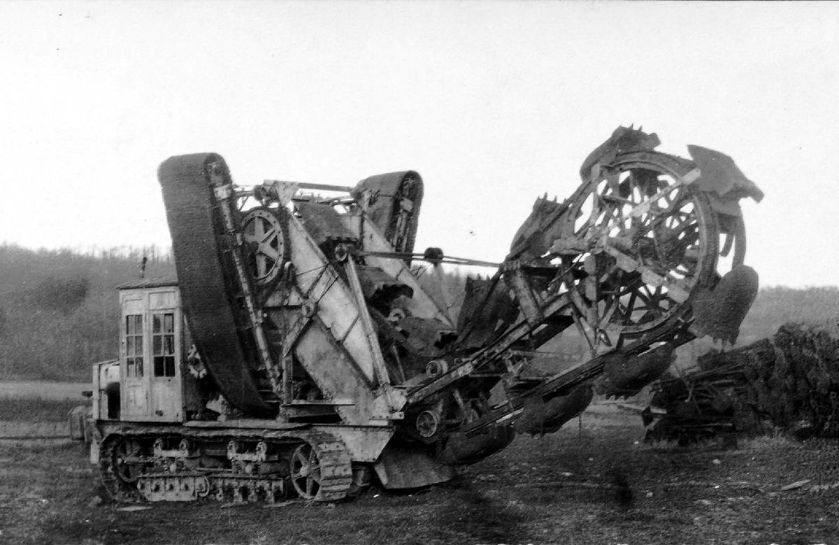 Немецкая траншеекопательная машина (январь 1918 года) (7)
