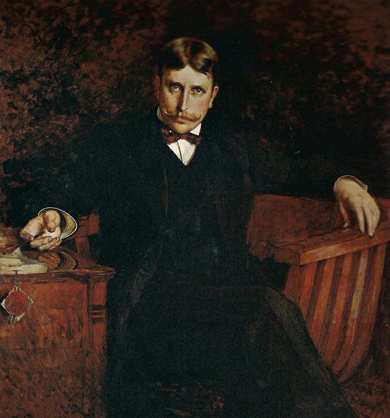 1892 - тур по Европе, Orrin Peck  написал его портрет в Мюнхене.