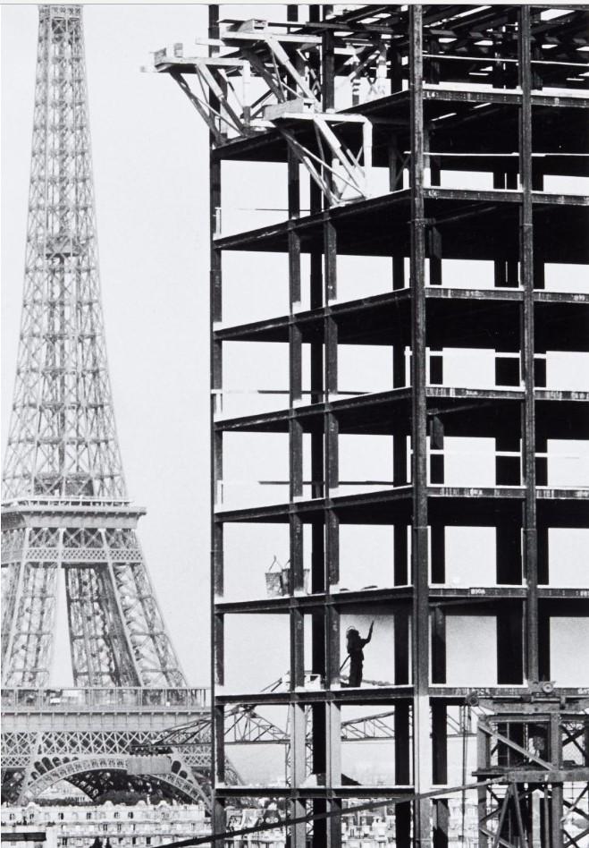 1959. Строительство дома ОРТФ на улице Фонтен