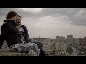 Подруги девушка, крыша, портрет, город, небо, zsweetest, Анжела, kvaaa