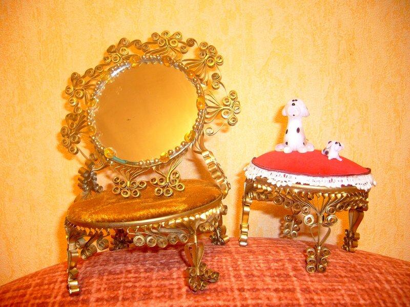 Мебель для кукол из жестяных банок своими руками
