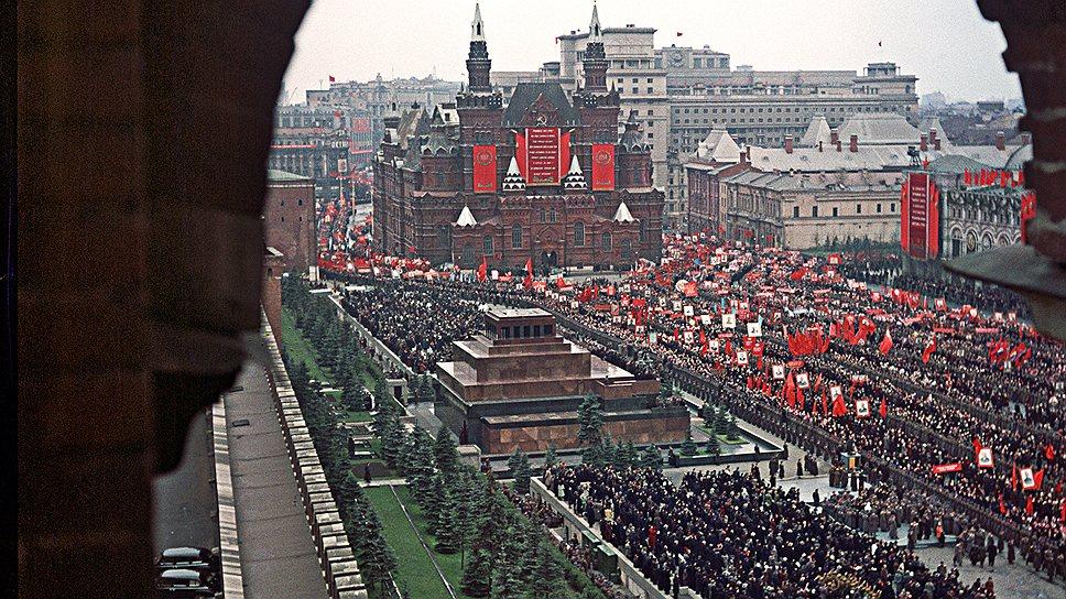 Демонстрация на Красной площади в 1954 году