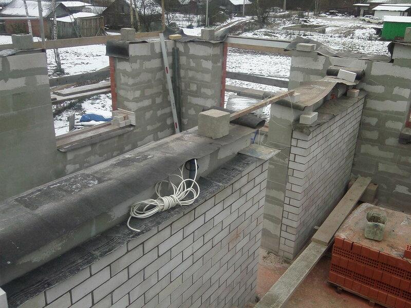 греем бетон зимой