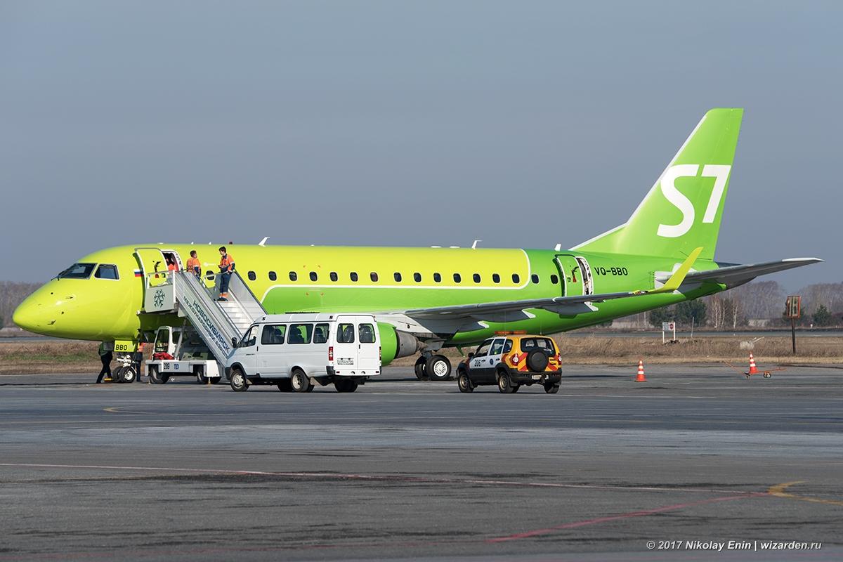 Первый Embraer-170 а/к S7 в Толмачёво