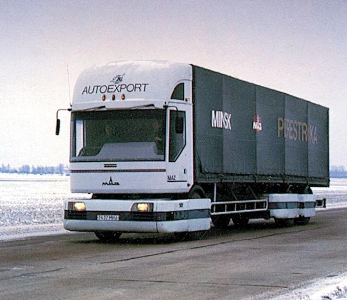 Настоящий белорусский богатырь. В 1985 году в Минске, на заводе МАЗ началась работа над тяжелым груз