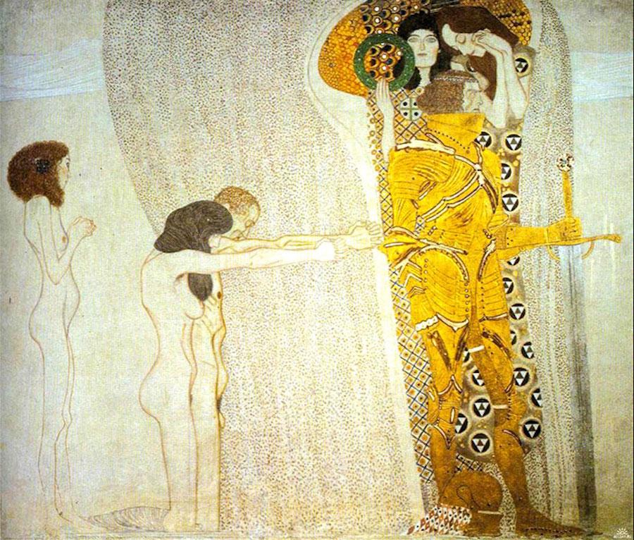 Фотосерия с воссозданными сценами из золотых картин Густава Климта