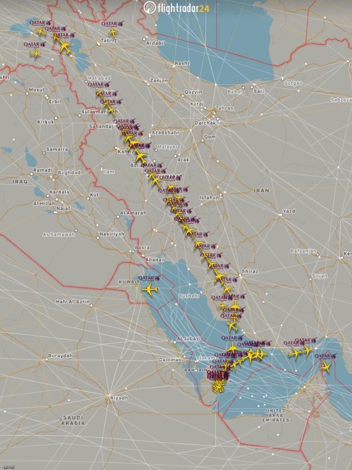 Говорят, что Катар сейчас в списке санкций и с рейсами туда возможны проблемы. Мой совет — поменьше