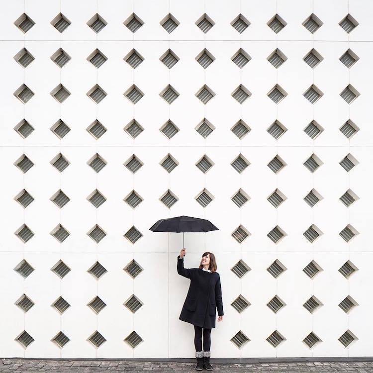 Игра с городскими пространствами: пара из Валенсии дополняет собой архитектурные образы (17 фото)
