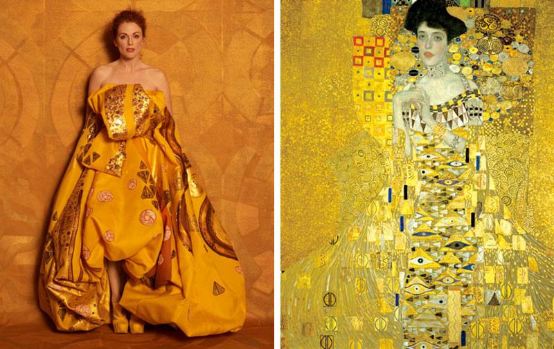 «Адель Блох-Бауэр I» (1907) Густава Климта, в Dior Haute Couture.