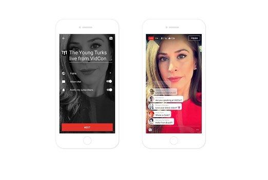 YouTube открыл прямые трансляции со телефона для пользователей с 1 000 фанатов