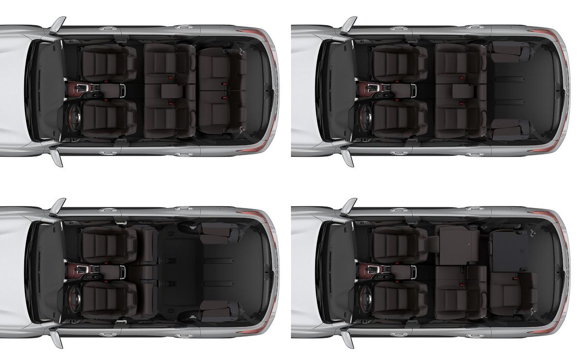 Toyota Fortuner компоновка салона 7 мест