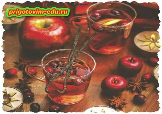 Яблочный пунш с клюквой