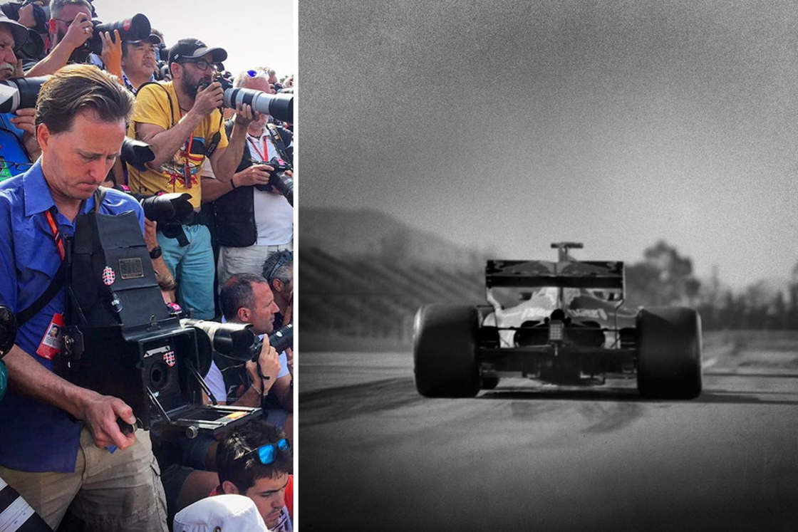 Photographing Formula 1 with a hundred year old camera (19 pics)