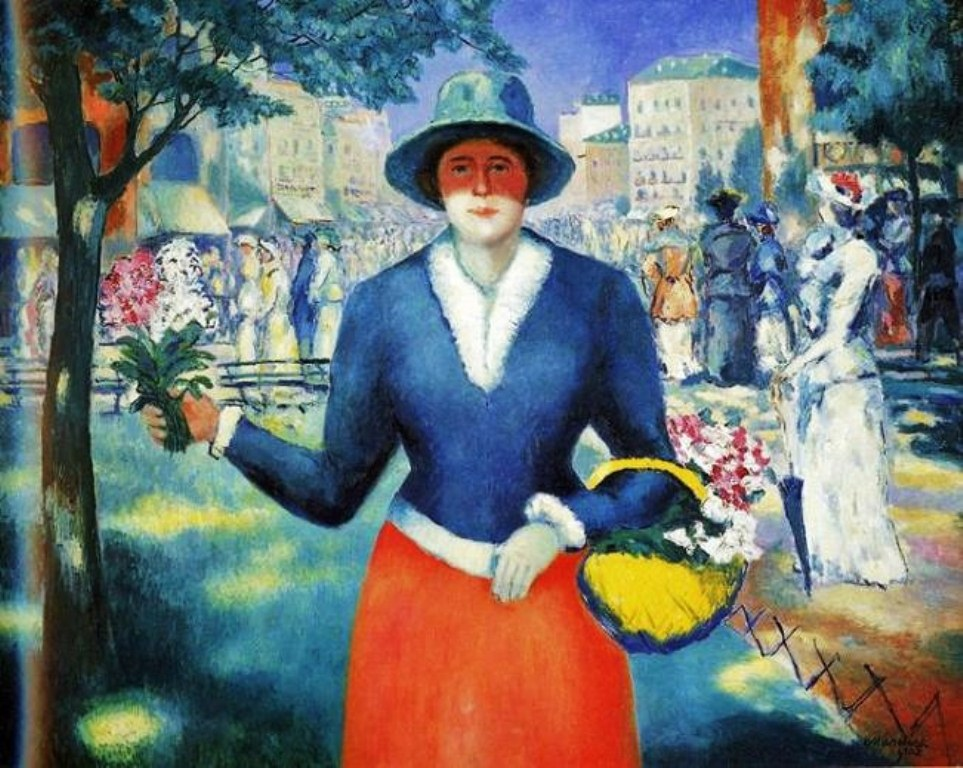 Kasimir Malevich (Ukrainian painter, 1878-1935) Flower Girl 1903.jpg