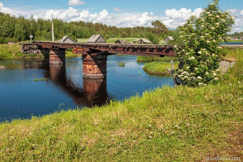 Старинный мост через Пяльму, Карелия