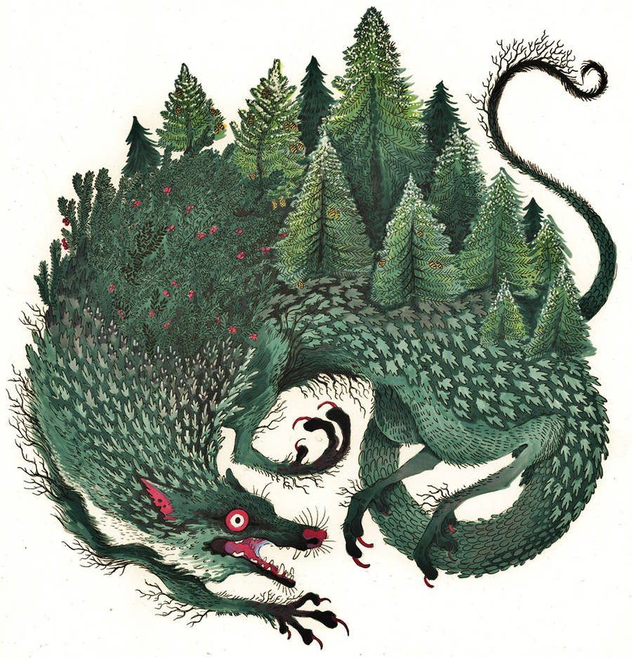 Original Greenery Monsters Illustrations by Holly Lucero (5 pics)