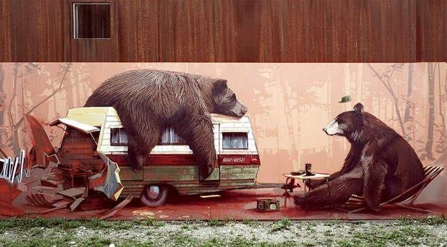 Street Art Playful Murals and Paintings by Wes 21