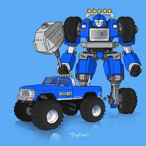Et si les vehicules cultes etaient des Transformers…