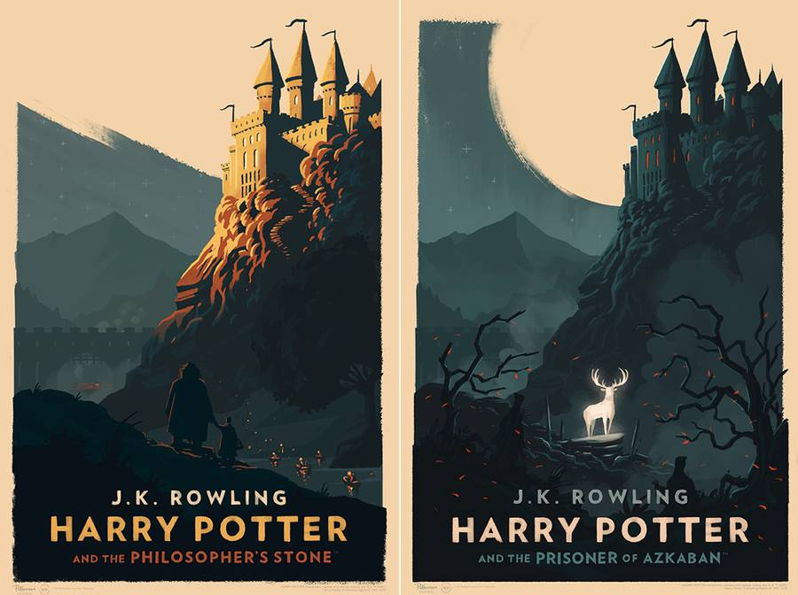 Vintage Illustrated Harry Potter Book Covers (8 pics)