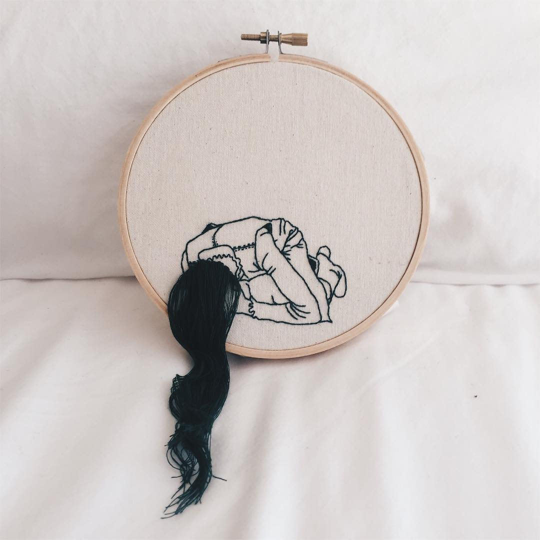 Fantastic Hairstyles Embroideries by Sheena Liam (7 pics)