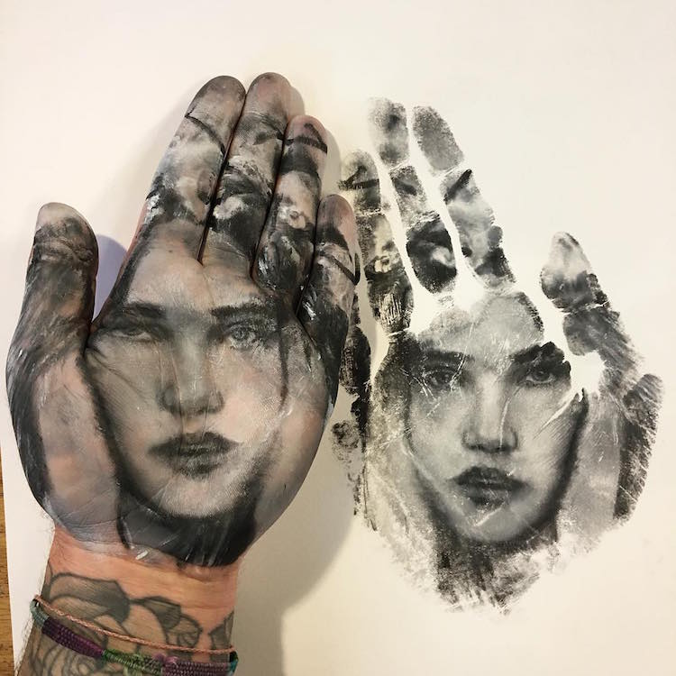 Hand Stamp Body Art Reimagines Traditional Body Painting Techniques (15 pics)