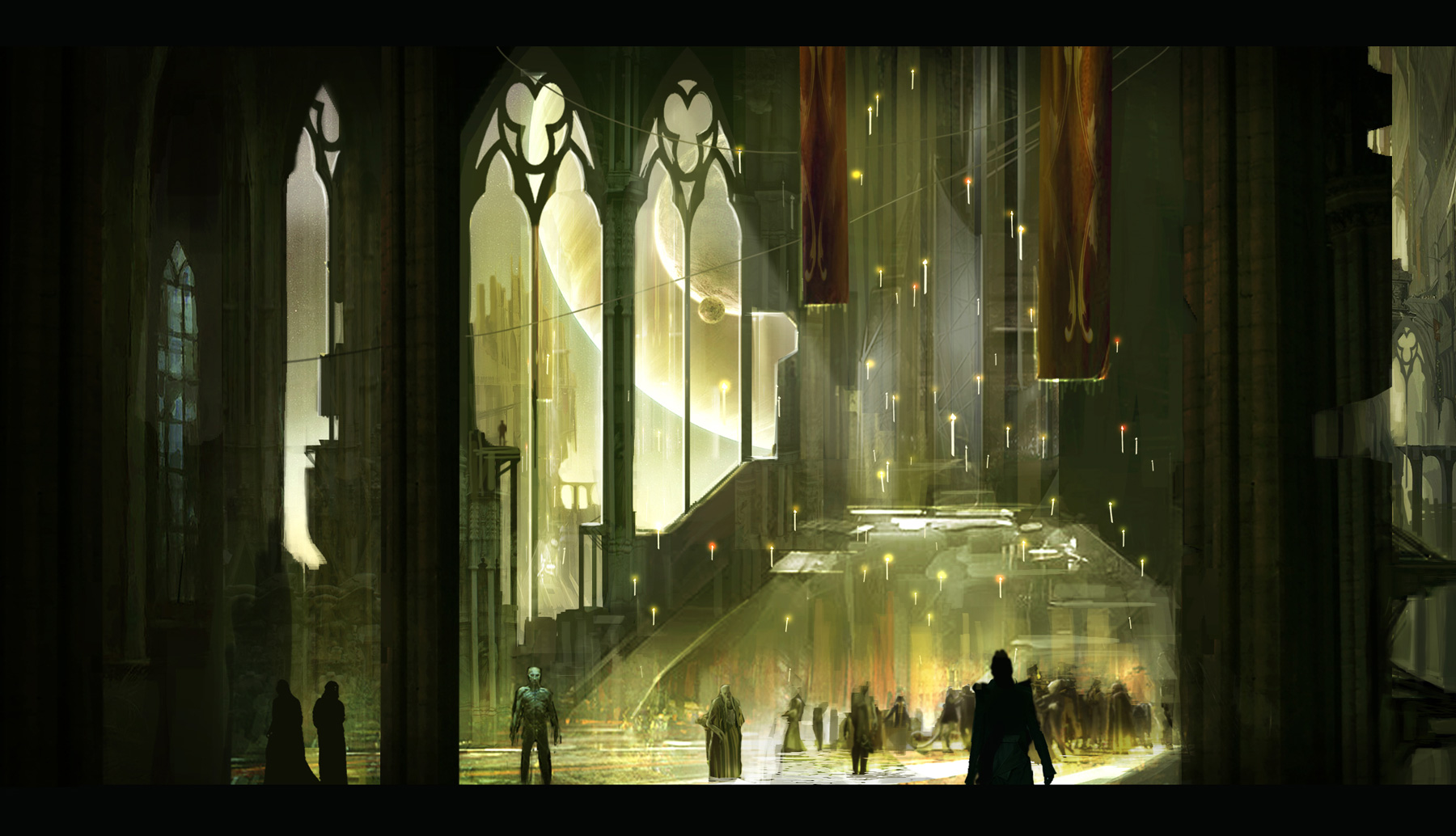 Jupiter Ascending Concept Art by The Aaron Sims Company