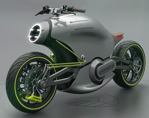 Концепт электроцикла Porsche 618
